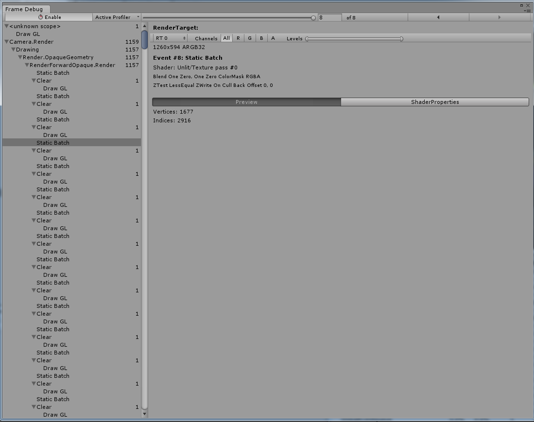 Repeated draw calls in frame debug - Unity Answers