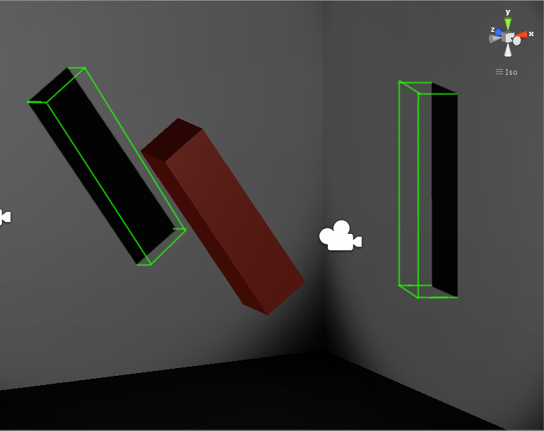 desired meshes are drawn in green