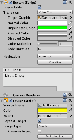 screenshot button and raw image components