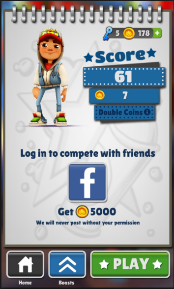Temple Run And Subway Surfers Game Over Implementation