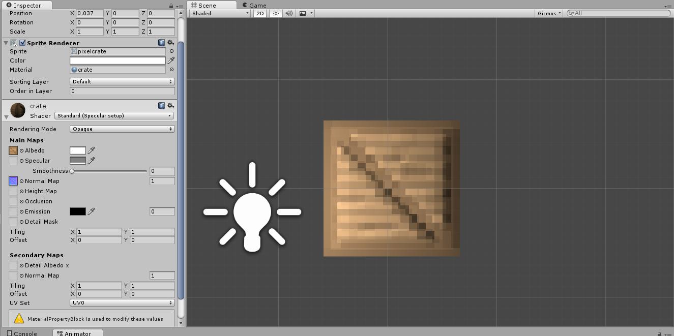 Using a normal map with pixel art is creating weird lighting issues