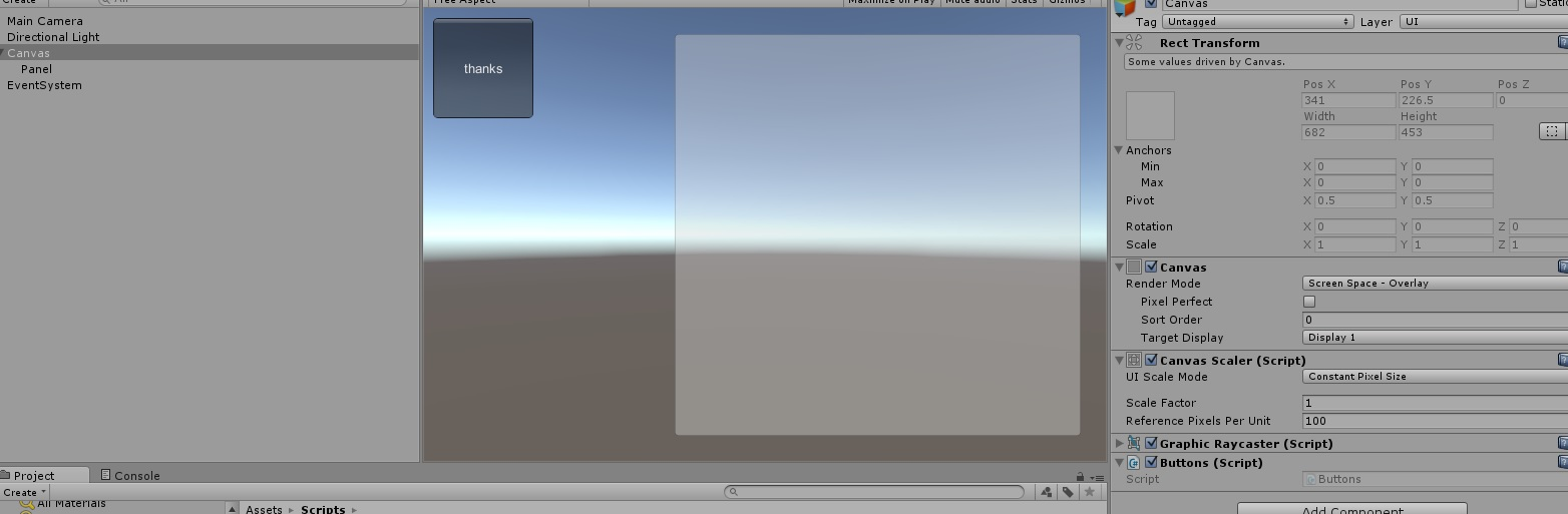 GUI Button within panel - Unity Answers
