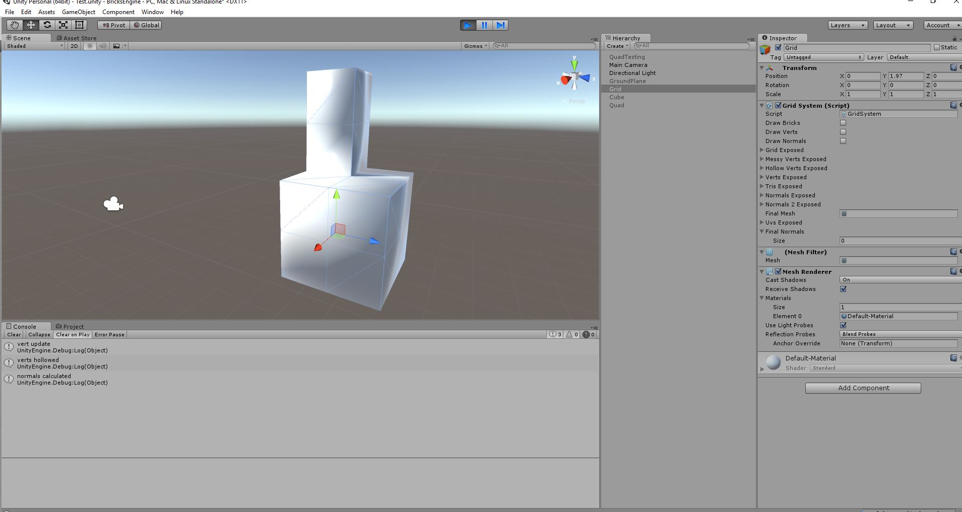 Why is my custom created (at runtime) mesh shading so weird
