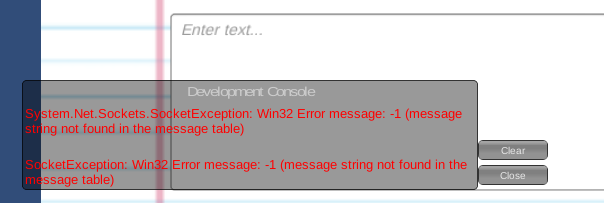using smtp to send email from webgl build get error message