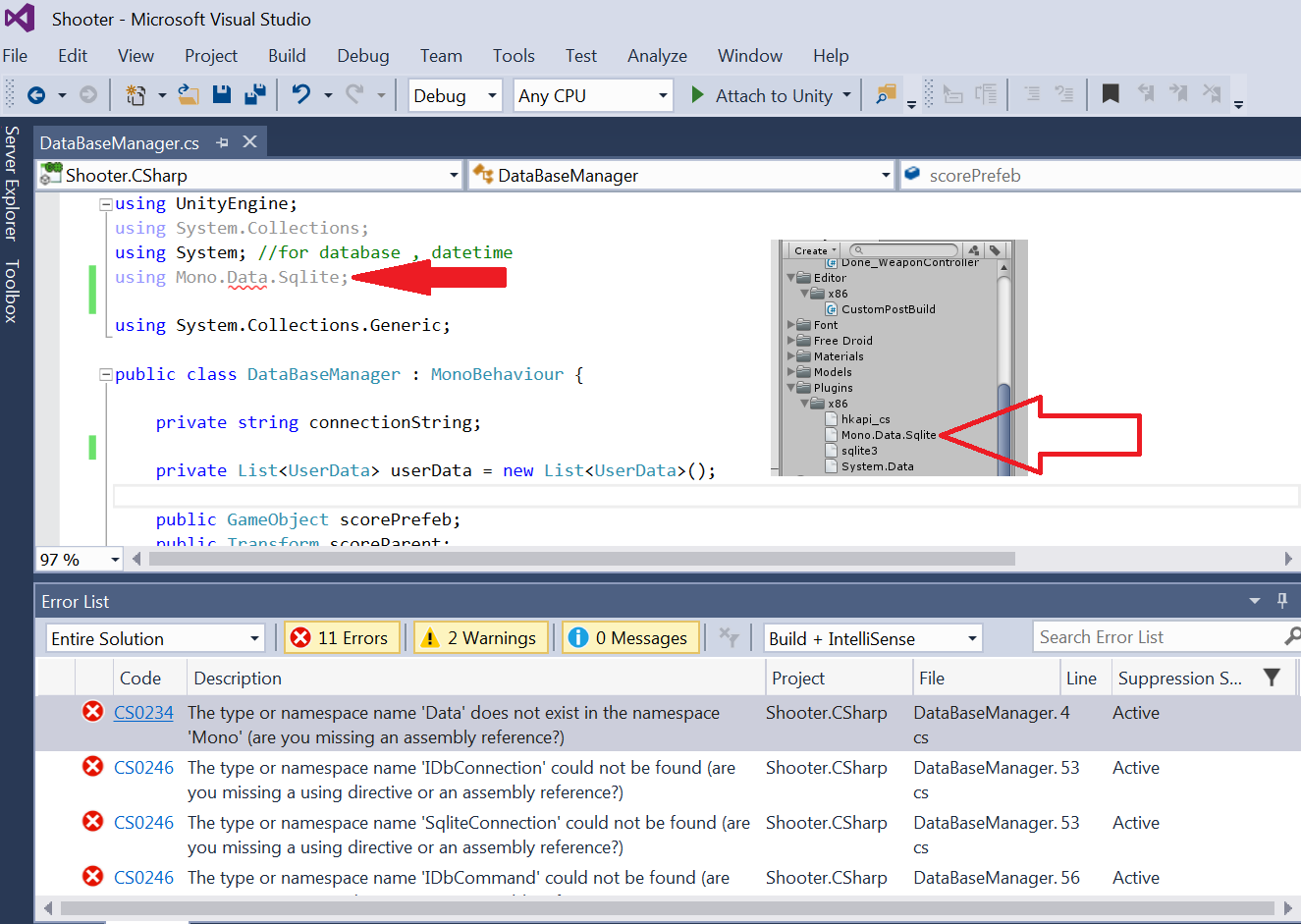 using Mono Data Sqlite missing an assembly reference
