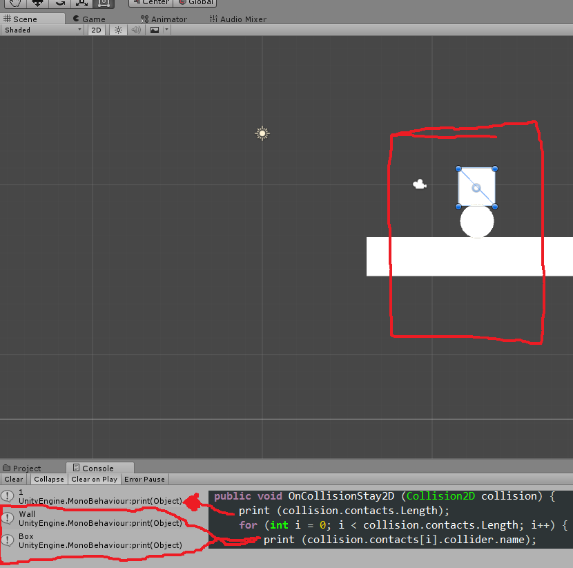 2D collisions not showing all contact points - Unity Answers