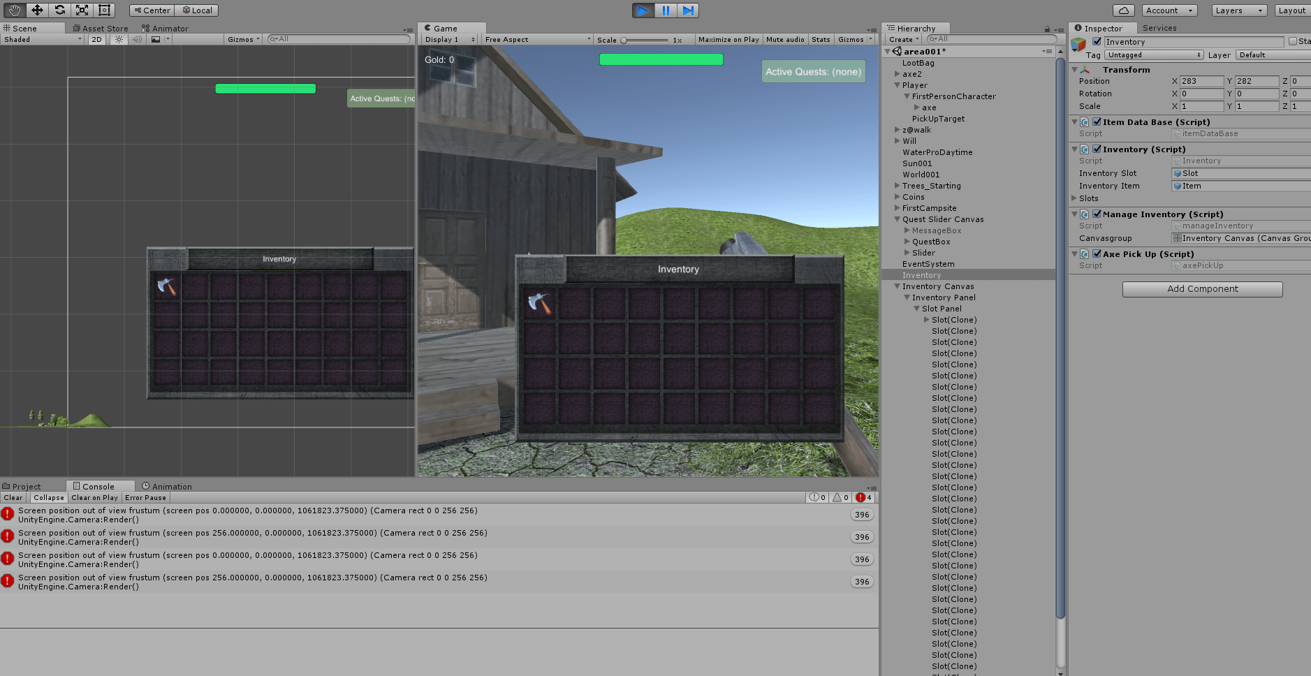 adding inventory items is half-working - Unity Answers