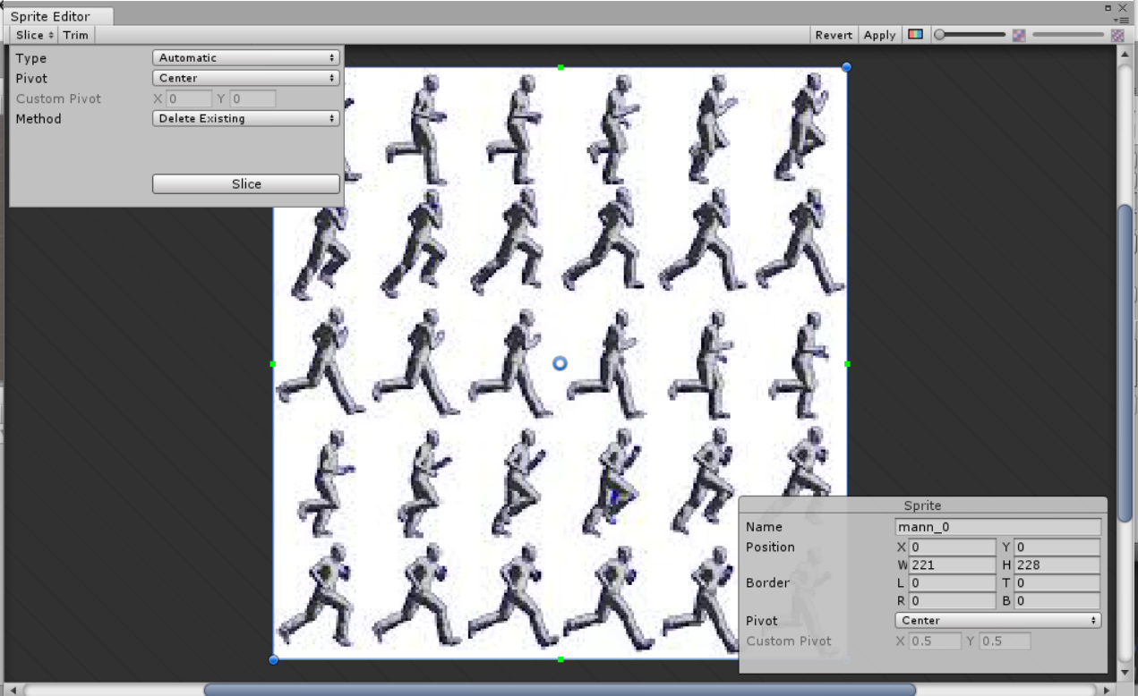 Why does the sprite editor not slice the sprite sheet? - Unity Answers