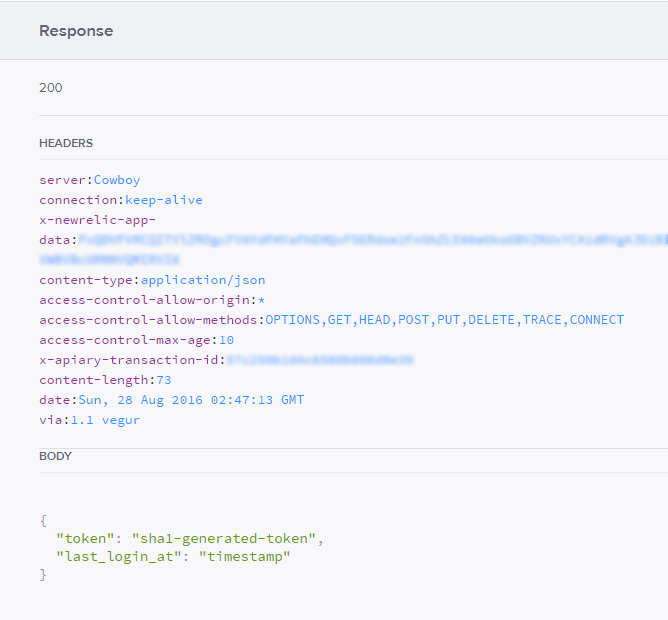 response headers in web interface