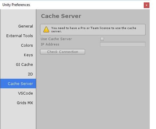 Unity Cache Server on Personal License? - Unity Answers