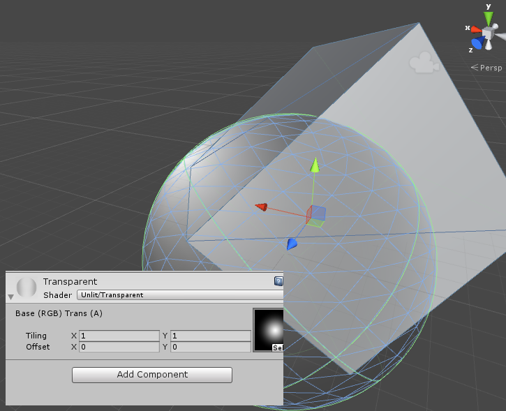 How to make a transparent texture - Unity Answers