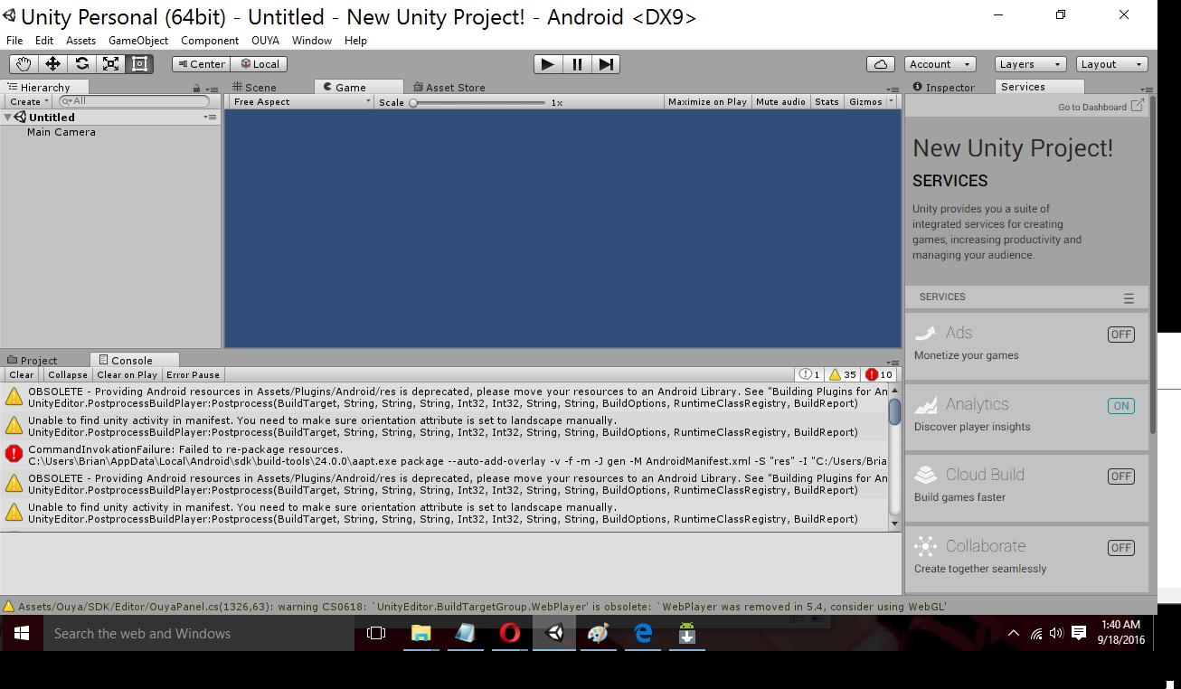 I\'m only getting this error when I try to compile for Android phone ...