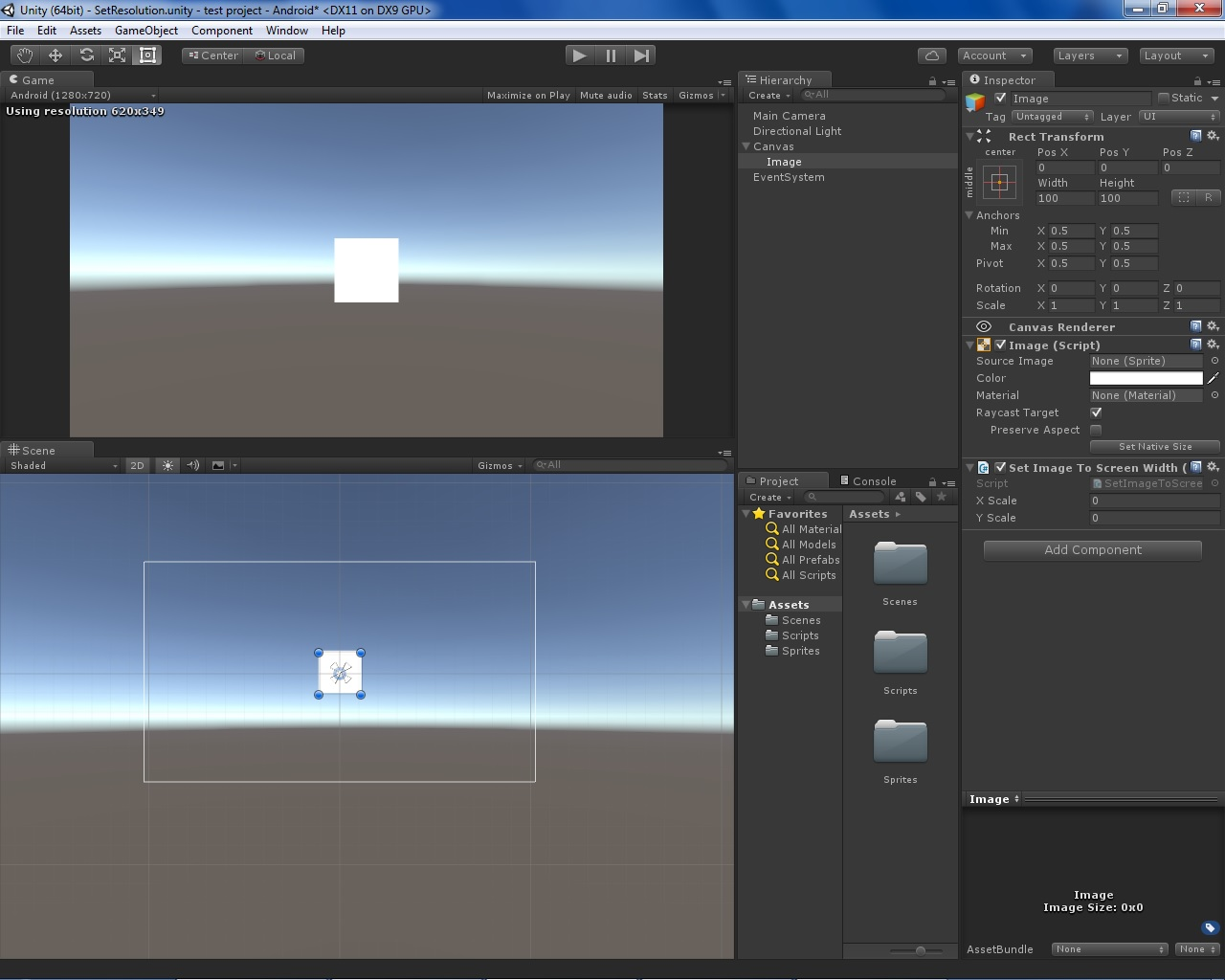 Set the UI Image to fit Screen Size - Unity Answers