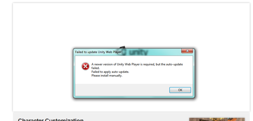 Failed to update Unity Web Player Install not working at all
