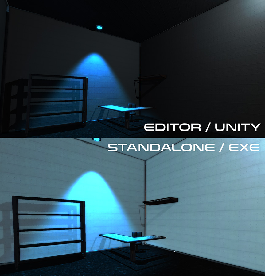 Lights In Build Looks Diffe From Editor Unity Answers