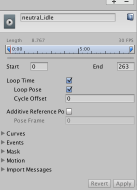 Animation 'Bake into pose' option is unavailable - Unity Answers