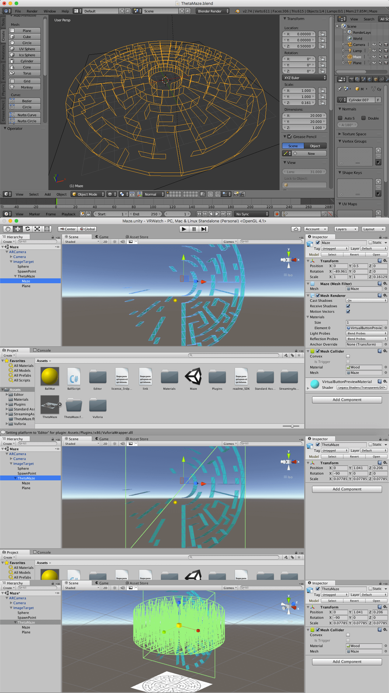 Create Blender object mesh collider - Unity Answers