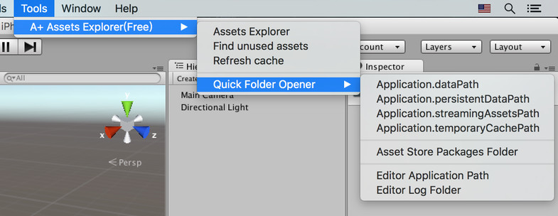 Where is the downloaded asset directory ? - Unity Answers
