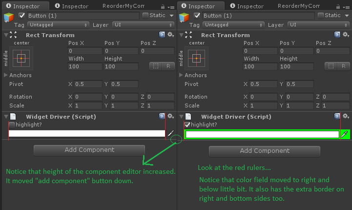 How to highlight a field's background in a custom editor without