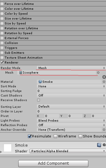 Emit meshes instead of particle spritres? - Unity Answers