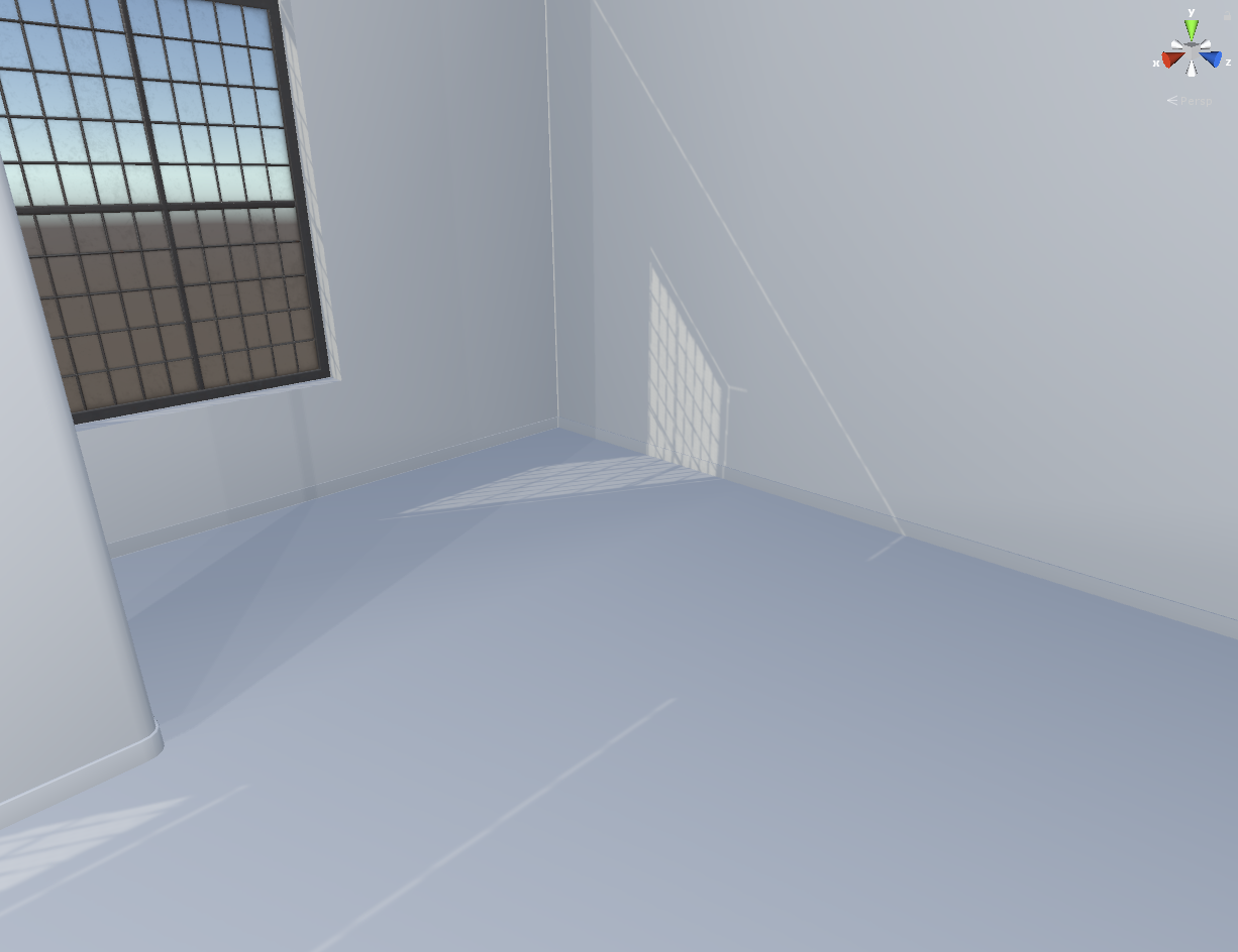 Light leaking through corners of room when using real-time