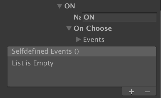 Selfdefined Events UnityEvent field in inspector