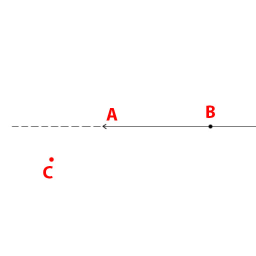 Check if a point is on the right or left of a vector