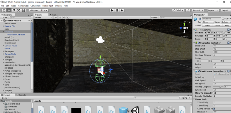 Change unity's first person controller collider size - Unity