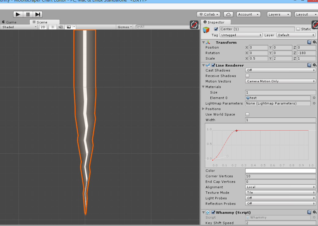 LineRenderer with Animation curve distorting texture