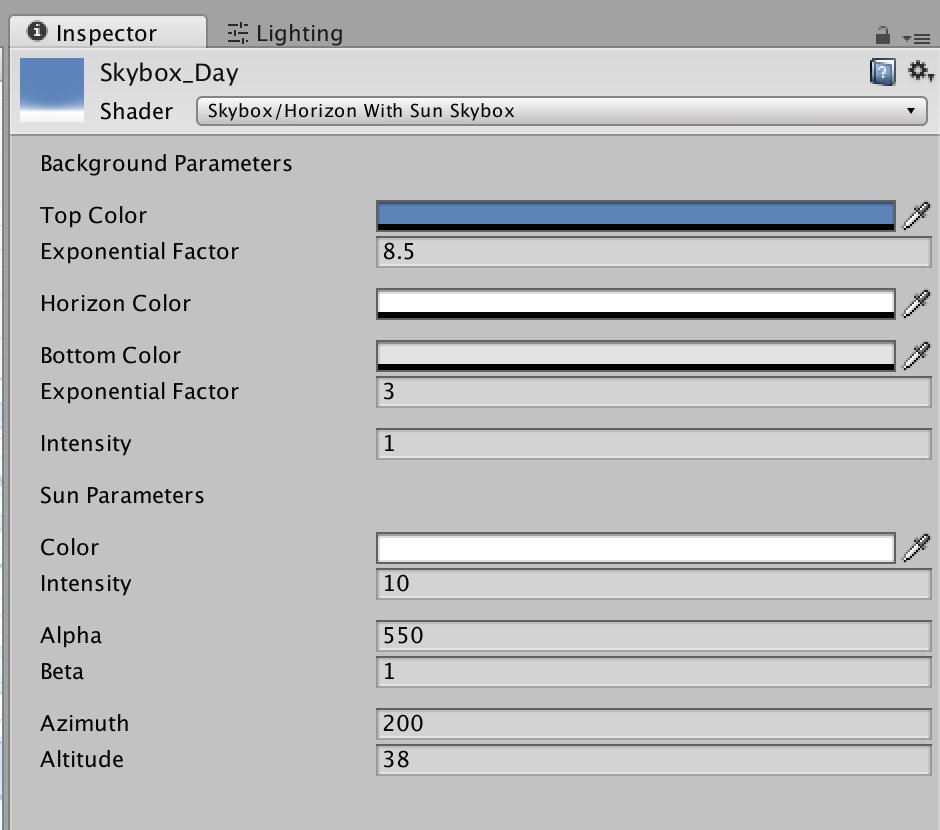 Modify skybox material property in-game via script - Unity Answers