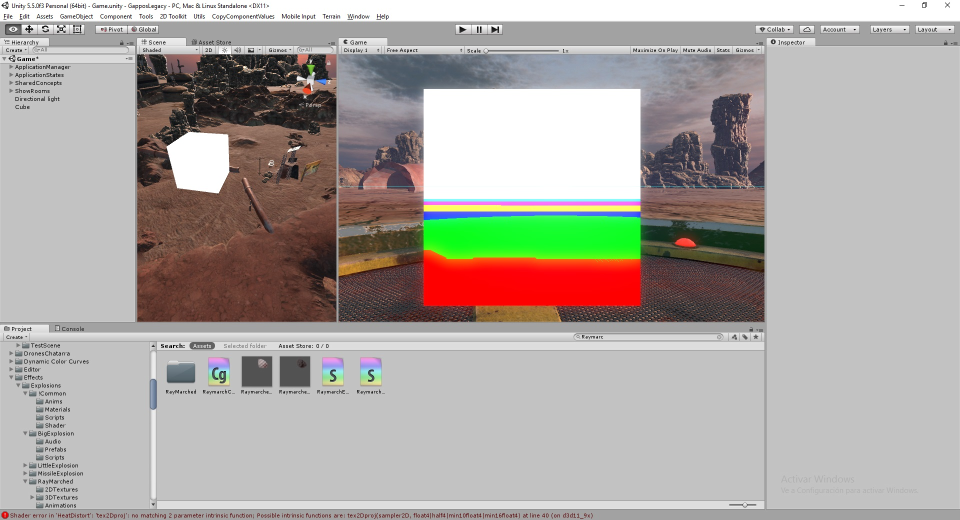 Differences in Depth Buffer inside the editor and outside