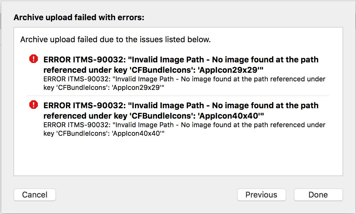 Invalid Image Path - No Image found at the path referenced