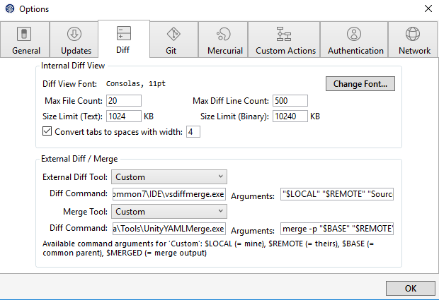 Unity Smart Merge (UnityYAMLMerge exe): how to configure