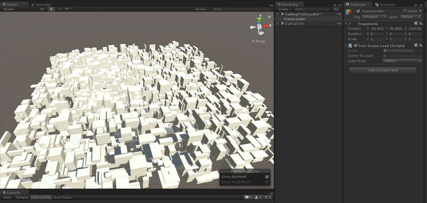 Can Unity 5 5 load Occlusion Culling additively? - Unity Answers