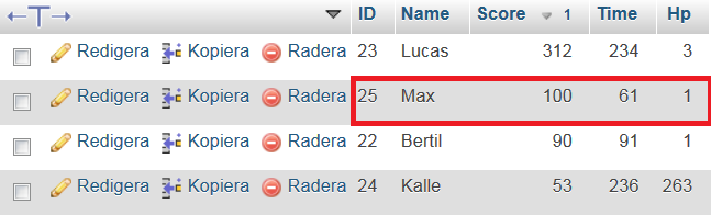 Getting Specific mySql Row by searching table with a name