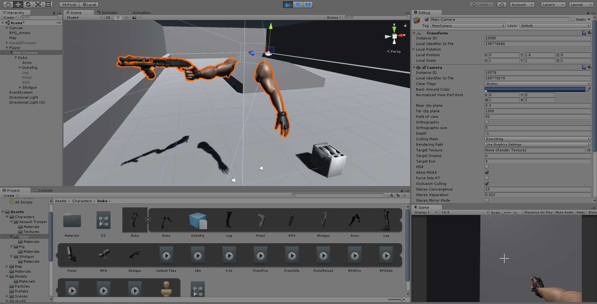 Camera not rendering some meshes in the hierarchy - Unity