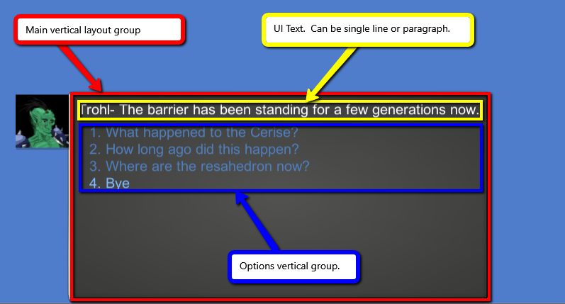 Change text in layout group with no redraw weirdness unity answers dialogue layout1g ccuart Gallery