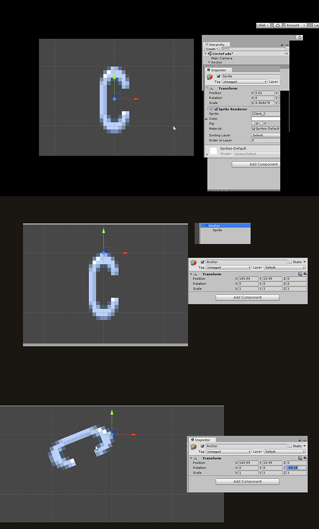 Custom Pivot Point Is Not Working For 2d Sprite Unity Answers