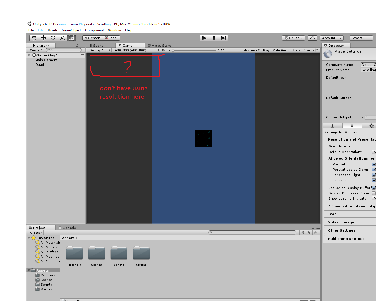 how to appear using resolution in unit - Unity Answers