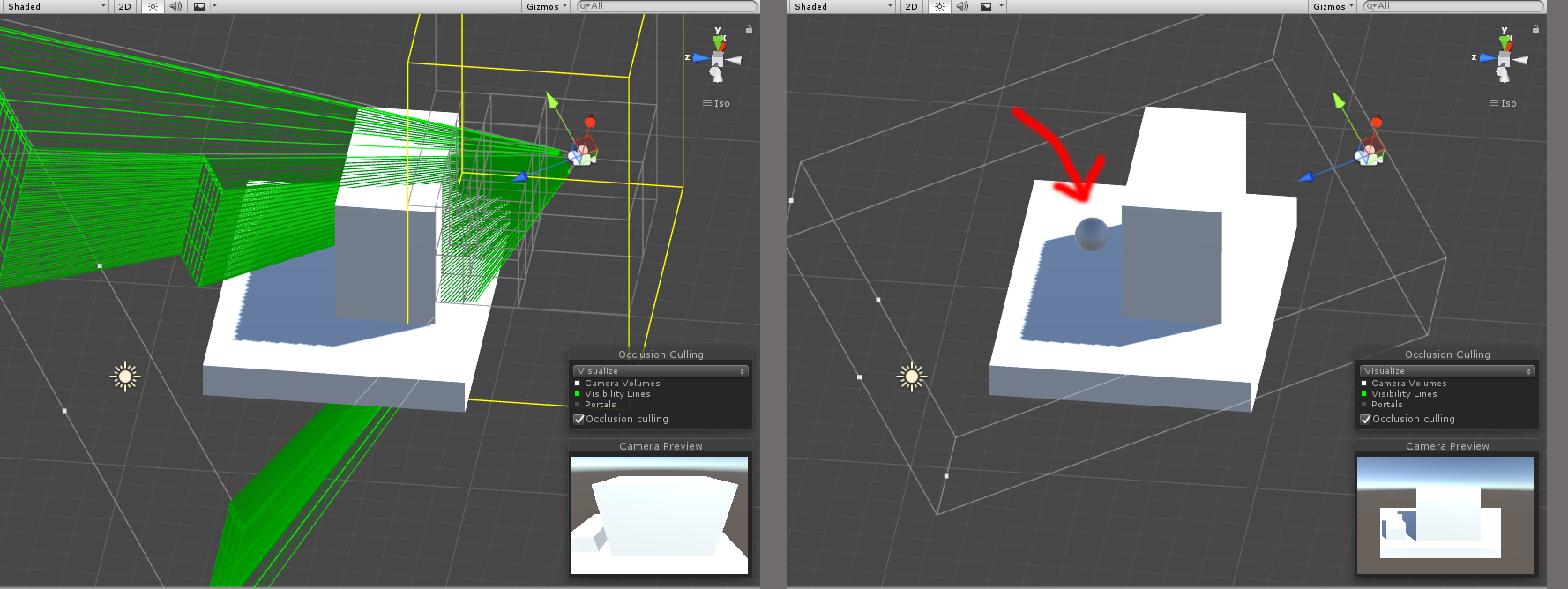 Orthographic Camera is not Occlusion Culling? - Unity Answers