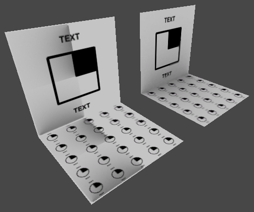 The object on the left uses a self-illumination shader for its materials; the object on the right uses a legacy lightmapped shader for its materials.