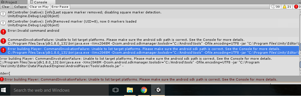Why is my android SDK not working? - Unity Answers
