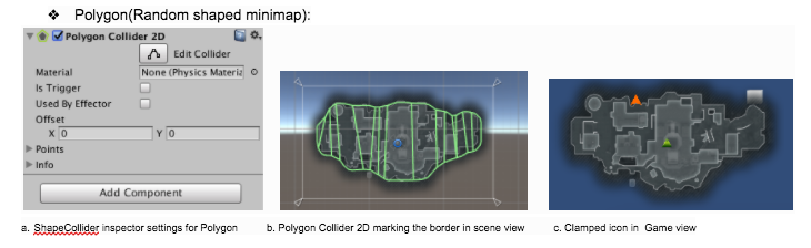 How to clamp icon in minimap's border when the minimap shape is